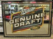 MILLER BREWING COMPANY Sign GENUINE DRAFT MIRROR